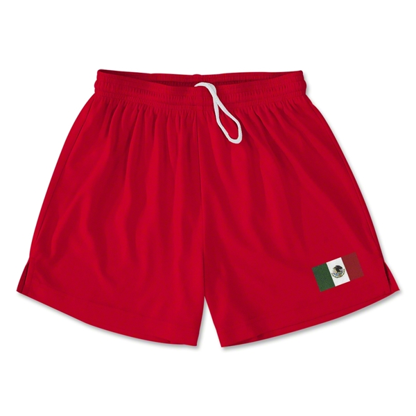 Mexico Team Soccer Shorts (Red)