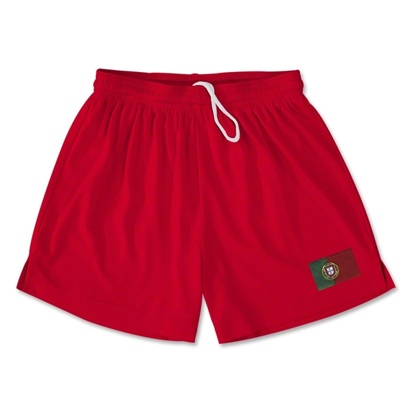 Portugal Team Soccer Shorts (Red)