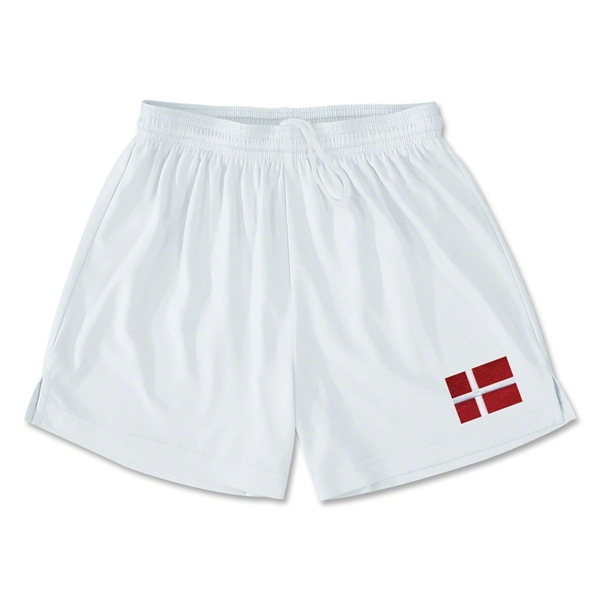 Denmark Team Soccer Shorts (White)
