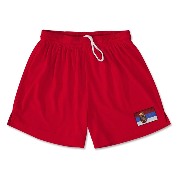 Serbia Team Soccer Shorts (Red)