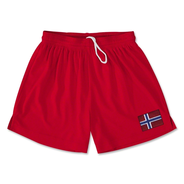 Norway Team Soccer Shorts (Red)
