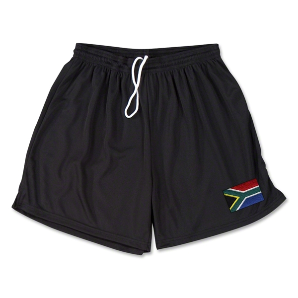 South Africa Team Soccer Shorts (Black)