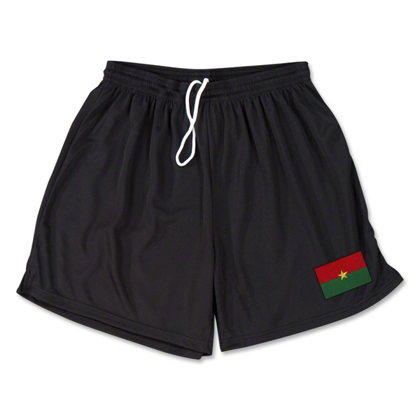 Burkina Faso Team Soccer Shorts (Black)