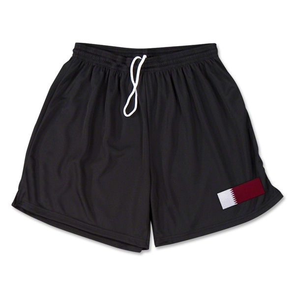 Qatar Team Soccer Shorts (Black)