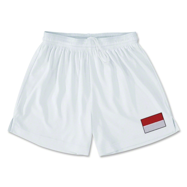 Indonesia Team Soccer Shorts (White)