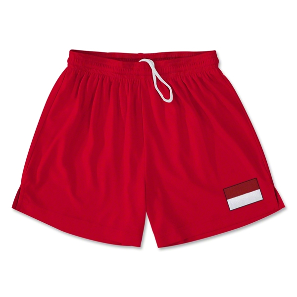 Indonesia Team Soccer Shorts (Red)