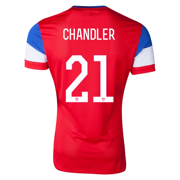 USA 14/15 CHANDLER Authentic Away Soccer Jersey