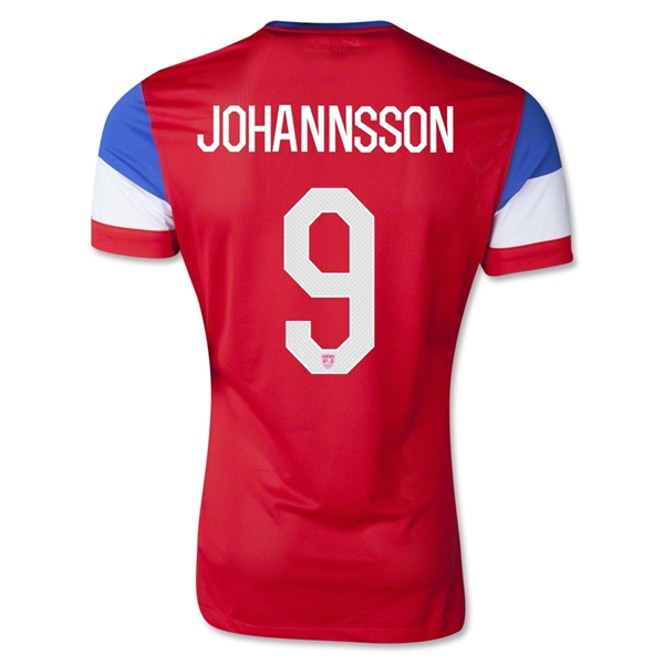 USA 14/15 JOHANNSSON Authentic Away Soccer Jersey