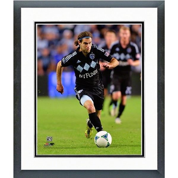 Sporting KC Graham Zusi Action Shot Double Matted Framed Photo