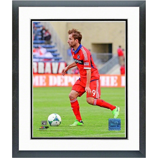 Chicago Fire Mike Magee Action Shot Double Matted Photo