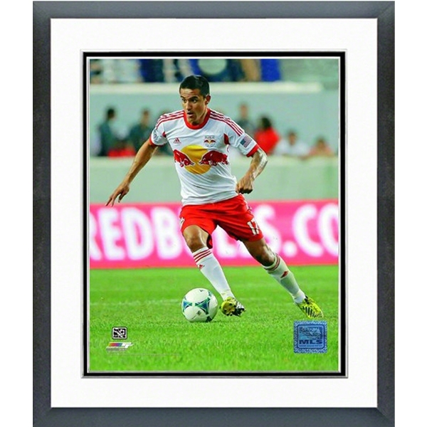 New York Red Bulls Time Cahill Action Shot Double Matted Framed Photo
