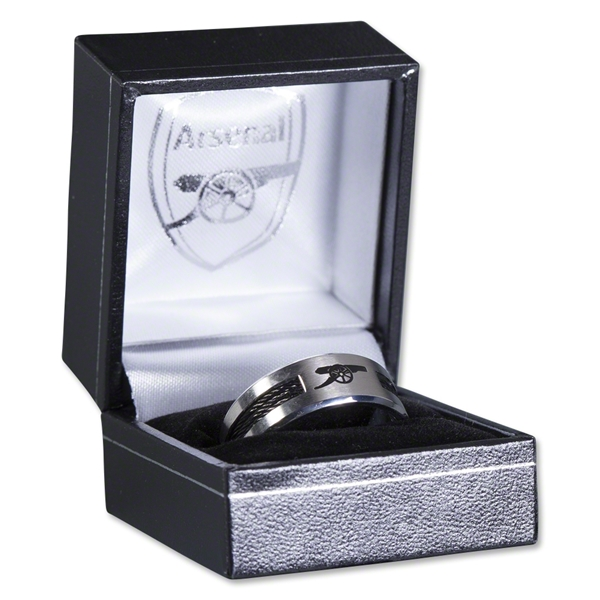Arsenal Stainless Inlay Ring