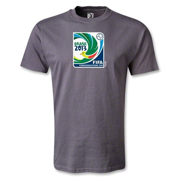 FIFA Confederations Cup 2013 Emblem T-Shirt (Dark Gray)