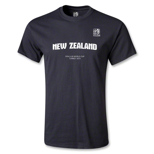 FIFA Men's U20 World Cup 2013 New Zealand T-Shirt (Black)