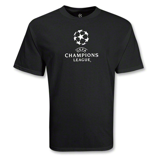 UEFA Champions League Classic Logo Back Base T-Shirt (Black)