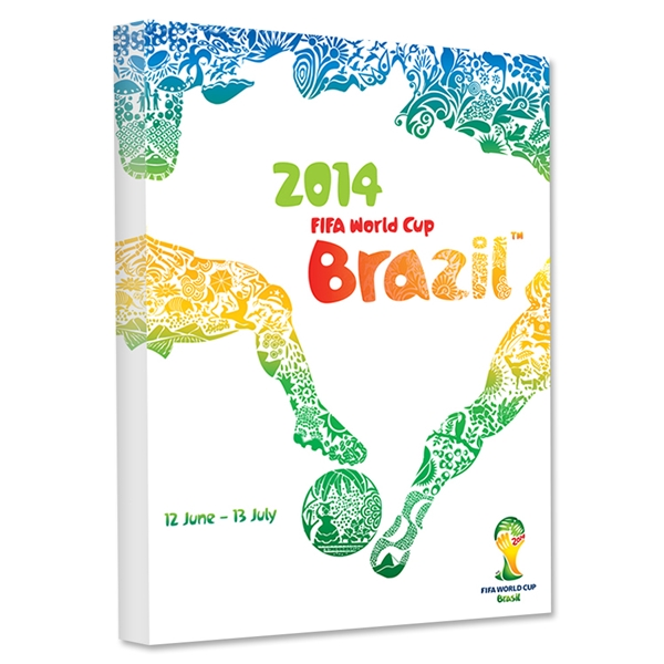 2014 FIFA World Cup Brazil Official Event Poster Stretched Canvas (English)