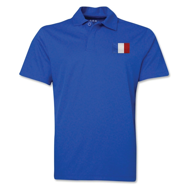 France Flag Soccer Polo (Royal)