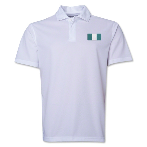 Nigeria Flag Soccer Polo (White)