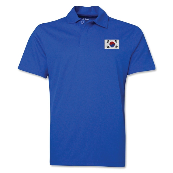 South Korea Flag Soccer Polo (Royal)