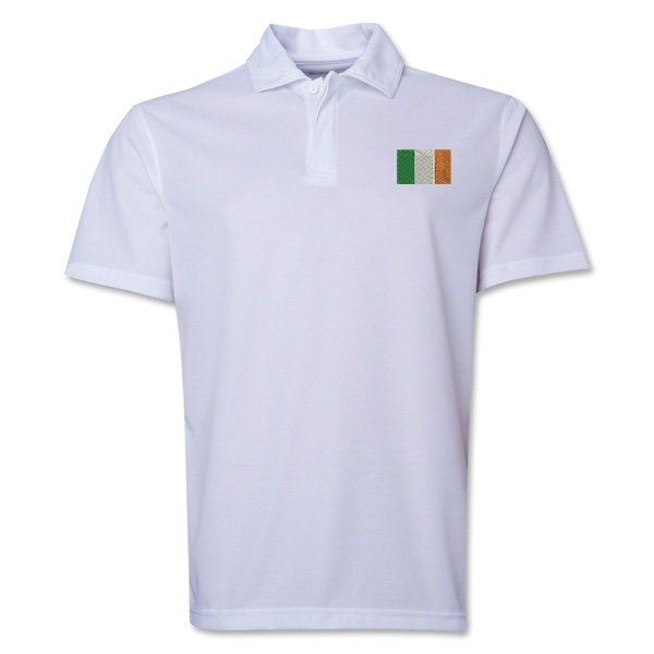 Ireland Flag Soccer Polo (White)