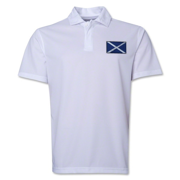 Scotland Flag Soccer Polo (White)