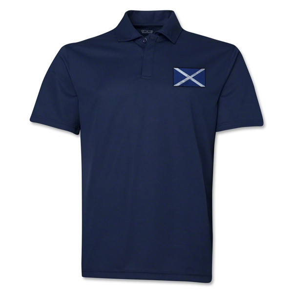 Scotland Flag Soccer Polo (Navy)