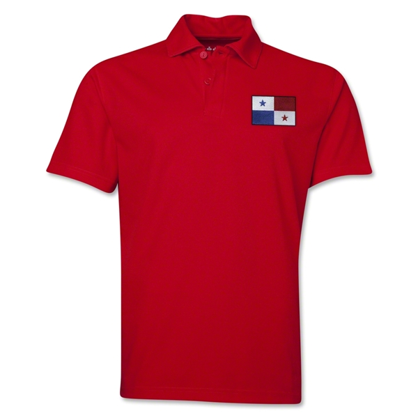 Panama Flag Soccer Polo (Red)