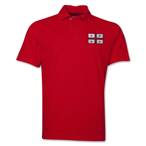Georgia Flag Soccer Polo (Red)