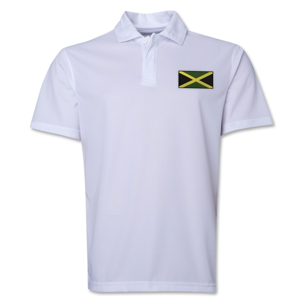 Jamaica Flag Soccer Polo (White)