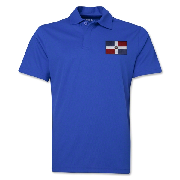 Dominican Republic Flag Soccer Polo (Royal)