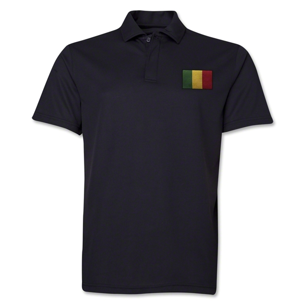Mali Flag Soccer Polo (Black)