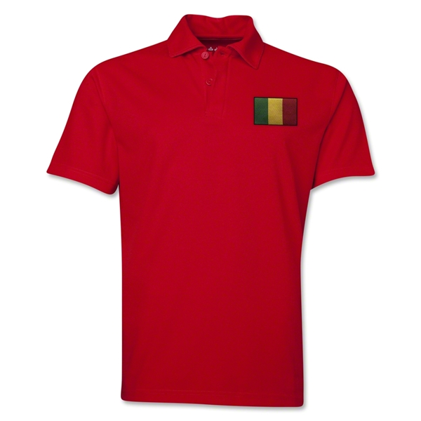 Mali Flag Soccer Polo (Red)