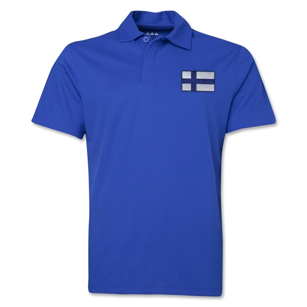 Finland Flag Soccer Polo (Royal)