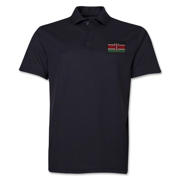 Kenya Flag Soccer Polo (Black)