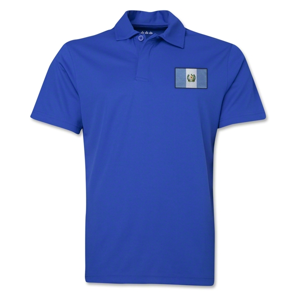 Guatemala Flag Soccer Polo (Royal)