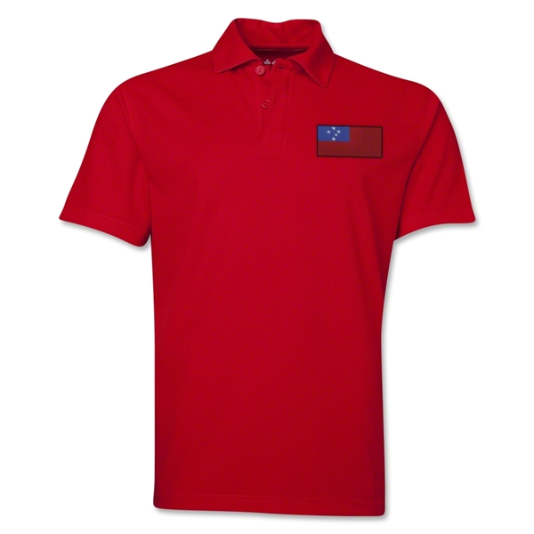 Samoa Flag Soccer Polo (Red)