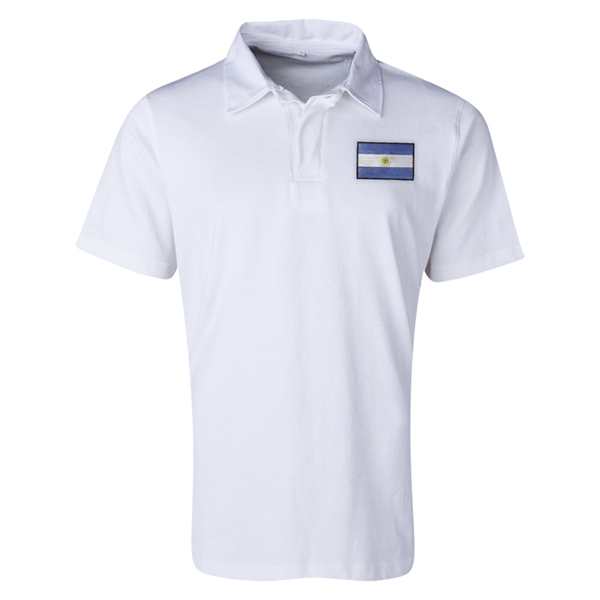 Argentina Flag Retro Rugby Jersey (White)