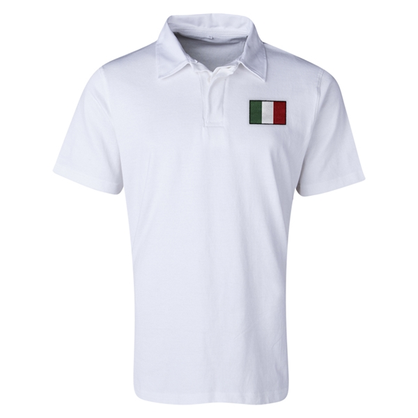 Italy Flag Retro Rugby Jersey (White)
