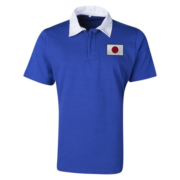 Japan Flag Retro Rugby Jersey (Blue)