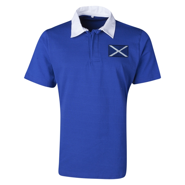 Scotland Flag Retro Rugby Jersey (Blue)