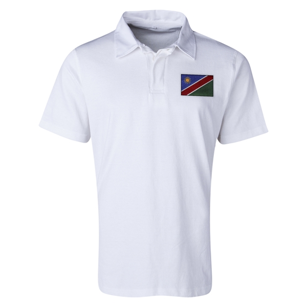 Namibia Flag Retro Rugby Shorts (White)