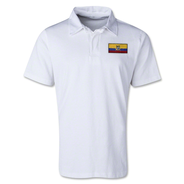 Ecuador Retro Flag Shirt (White)