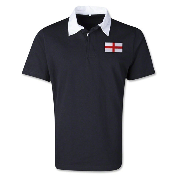 England Retro Flag Shirt (Black)