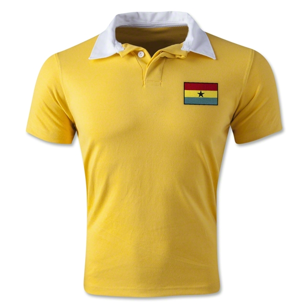 Ghana Retro Flag Shirt (Yellow)