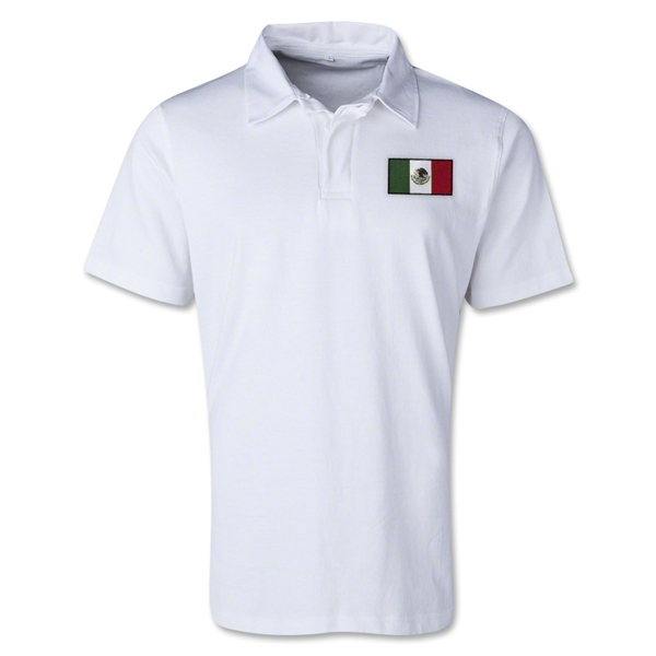 Mexico Retro Flag Shirt (White)
