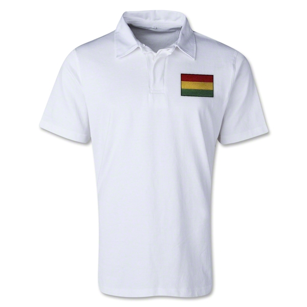 Bolivia Retro Flag Shirt (White)