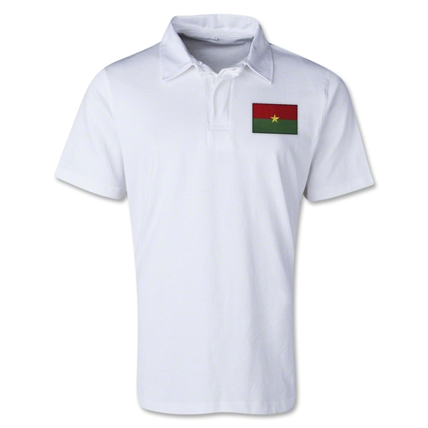 Burkina Faso Retro Flag Shirt (White)