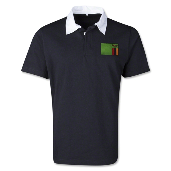 Zambia Retro Flag Shirt (Black)