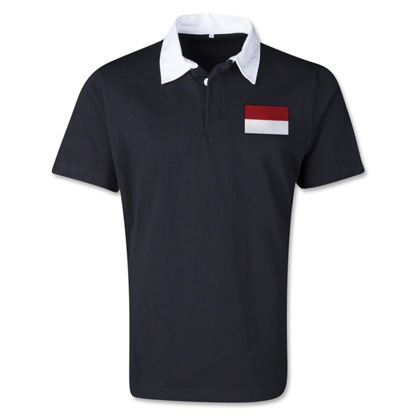 Indonesia Retro Flag Shirt (Black)