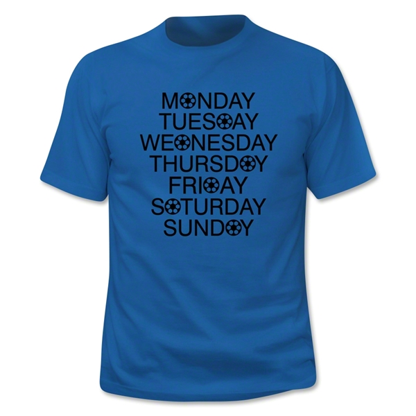 Soccer Days of the Week T-Shirt (Royal)
